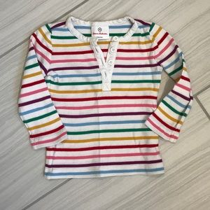 Hanna Andersson rainbow stripe long sleeved top 3T